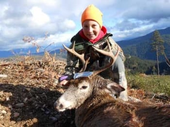 Hailey from St. Maries, ID Buck Haley Health skinner 12th birthday gift first white tail deer.