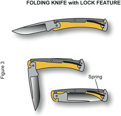 Folding Knife with Lock Feature