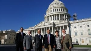 AKTI Members on Hill Visits September 2016: David Fee (Benchmade), Dan Lawson (Microtech), Bill Raczkowski (Gerber), Nando Zucchi (SOG), Peggy and Rod Bremer (CRKT).