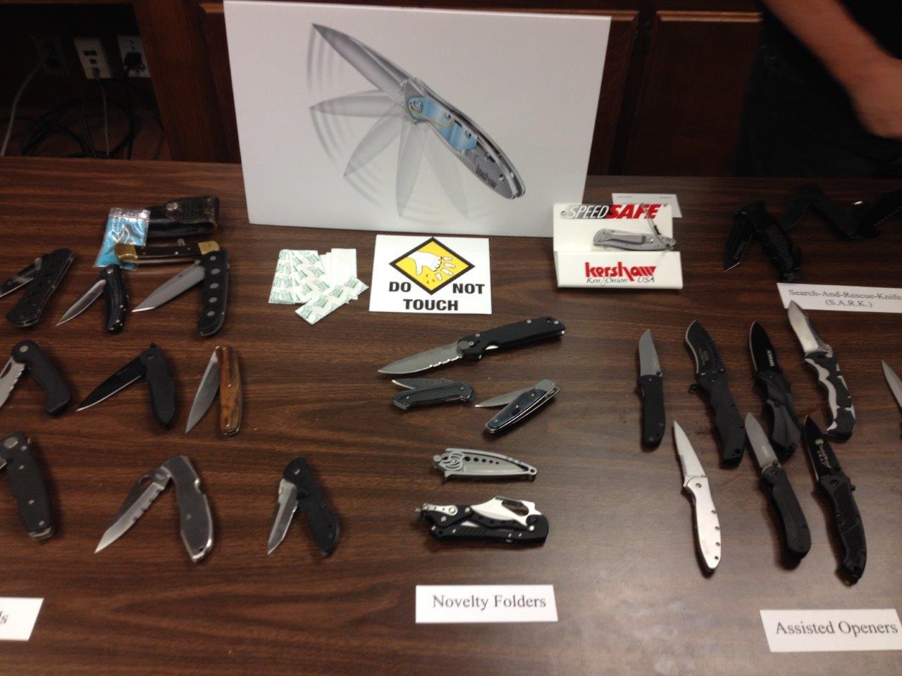 Explaining knife mechanisms